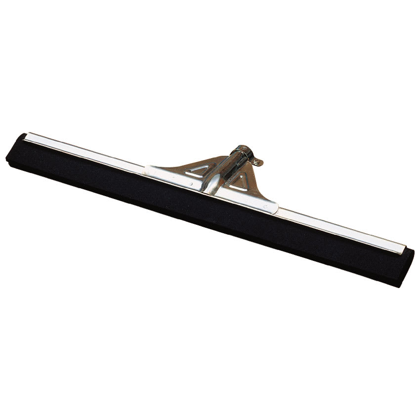 "Carlisle 36633000 30"" Floor Squeegee Head - Double-Foam Rubber Blade, Metal, Black"