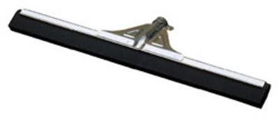 """Carlisle 36672400 22"""" Floor Squeegee - Foam Rubber Blade, Metal Frame, Black"""