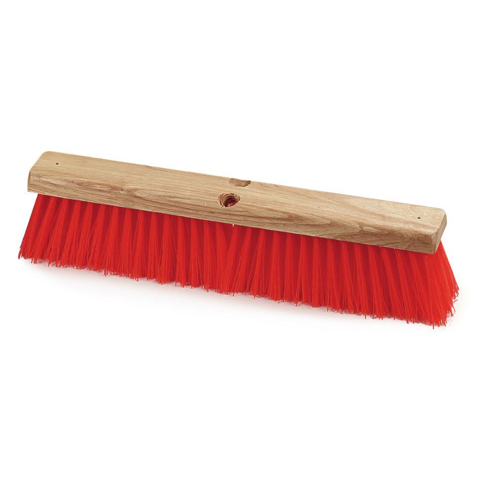 "Carlisle 36761824 18"" Floor Sweep Head - Hardwood Block, Poly Bristles, Orange"