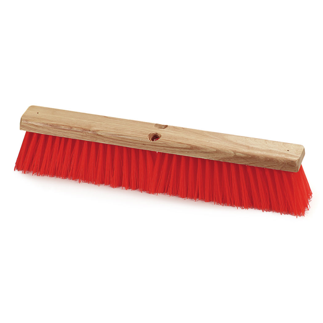 "Carlisle 36762424 24"" Floor Sweep Head - Hardwood Block, Poly Bristles, Orange"