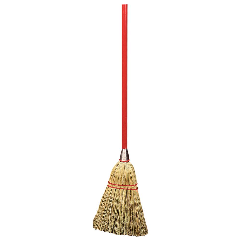 "Carlisle 368100 34"" Lobby Broom - Natural Corn Bristles"