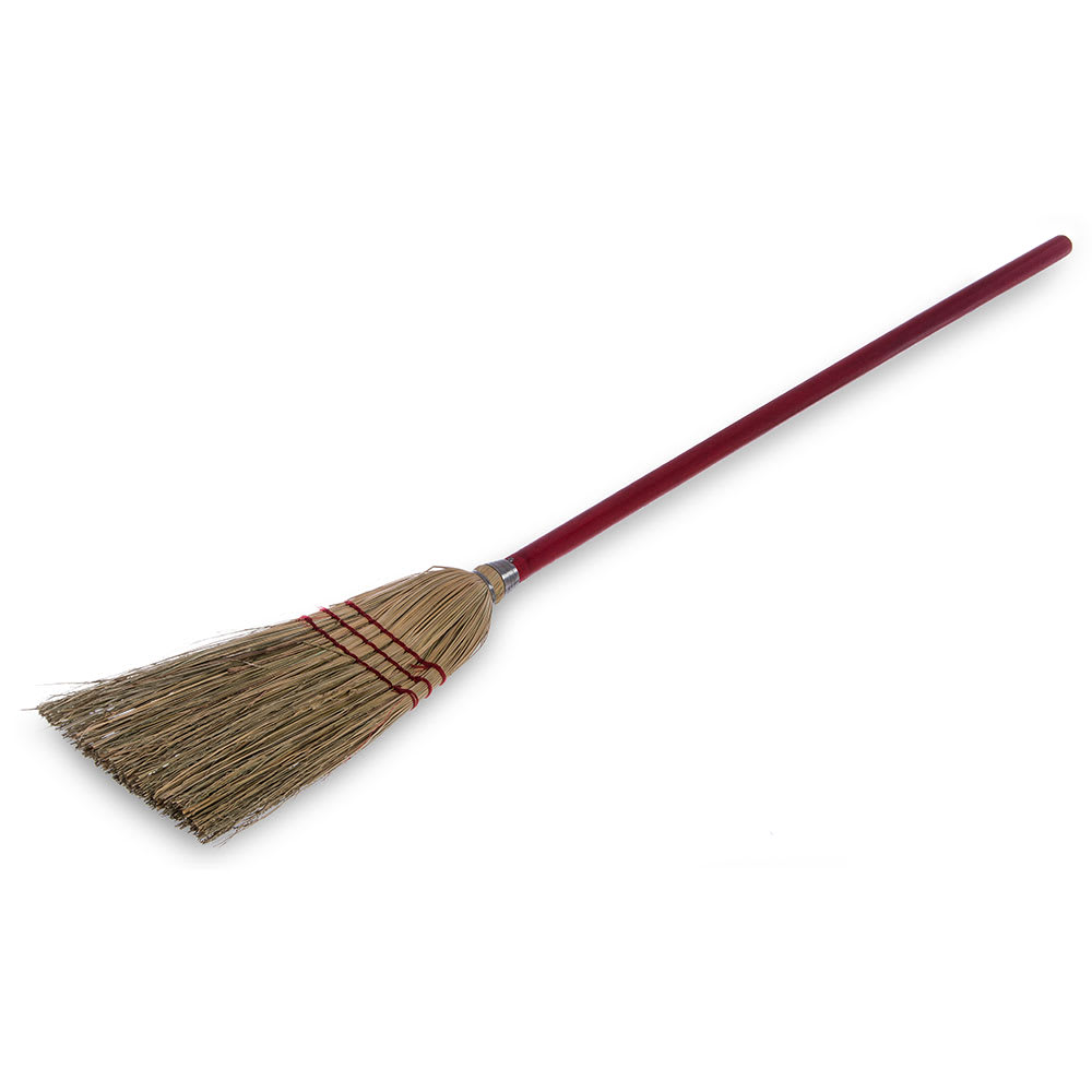 "Carlisle 368200 40"" Lobby Corn Broom - Blended Corn Bristles, Wood Handle"