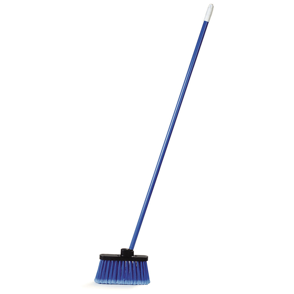 "Carlisle 3686314 48"" Light Industrial Broom - Metal Handle, Blue"