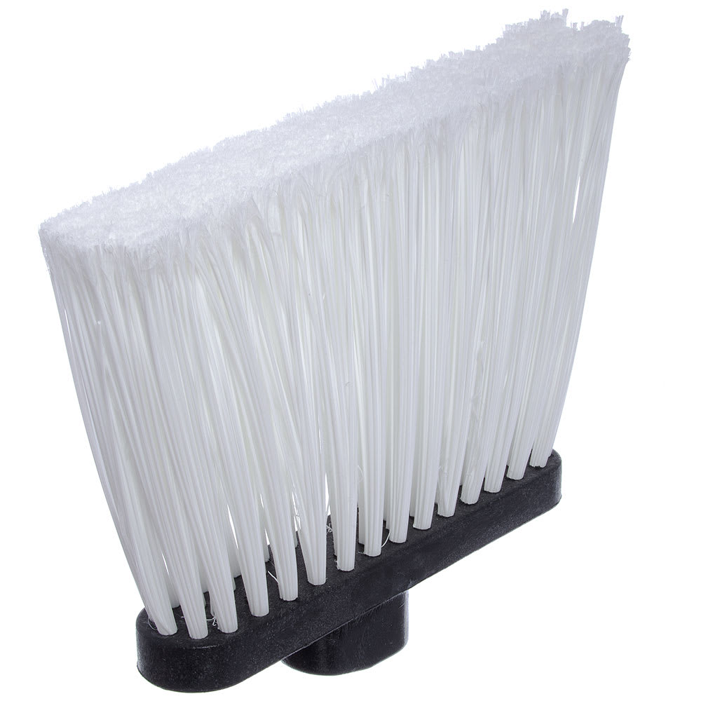 "Carlisle 3686702 12"" Angle Broom Head - Flagged Bristles, Polypropylene, White"