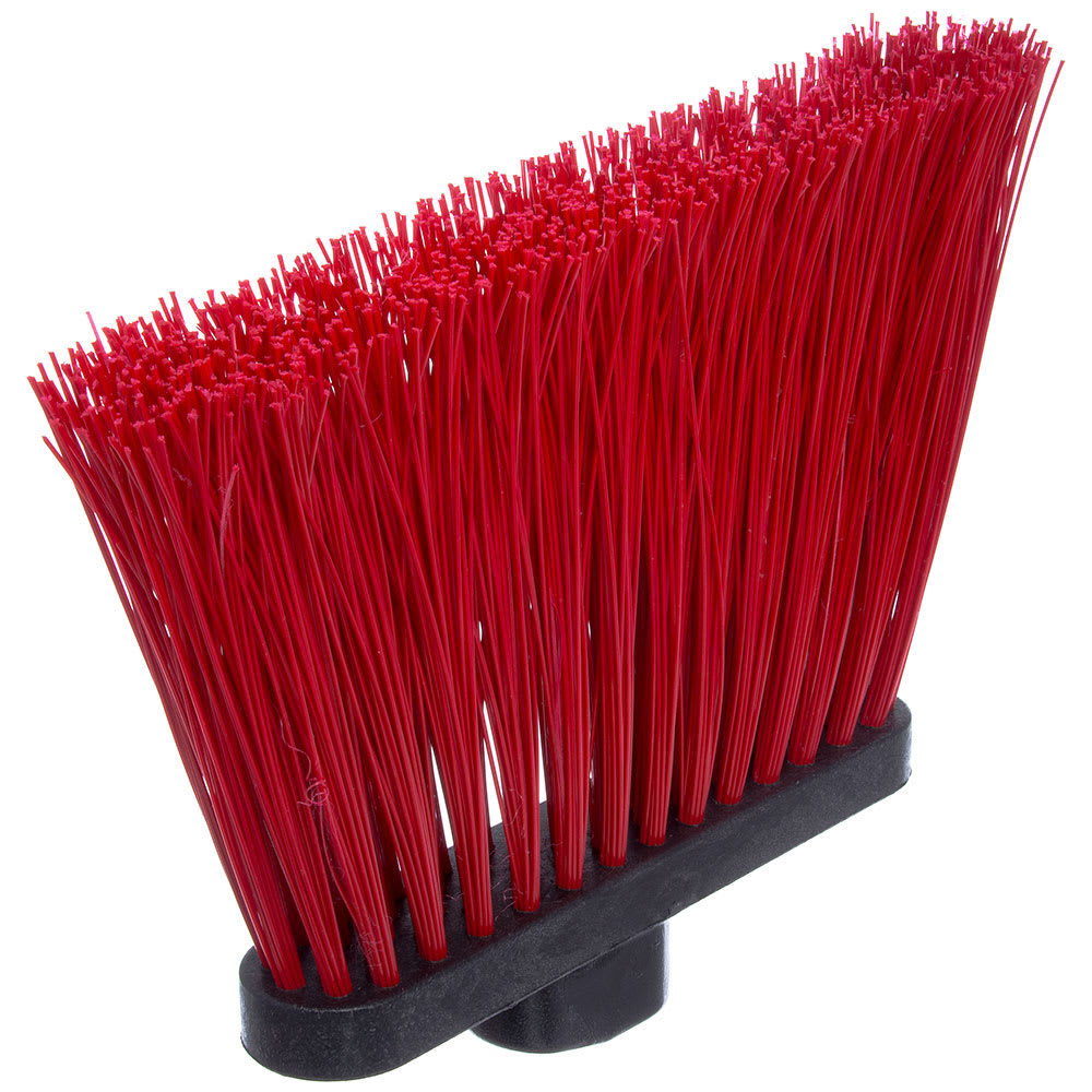 "Carlisle 3686805 12"" Angle Broom Head - Upright Handle Hole, Polypropylene, Red"