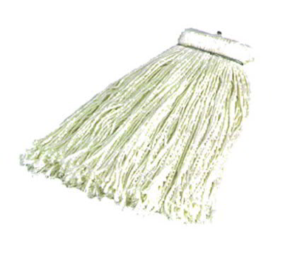 Carlisle 369016R00 Screw Top Mop Head, White Rayon Yarn, #16