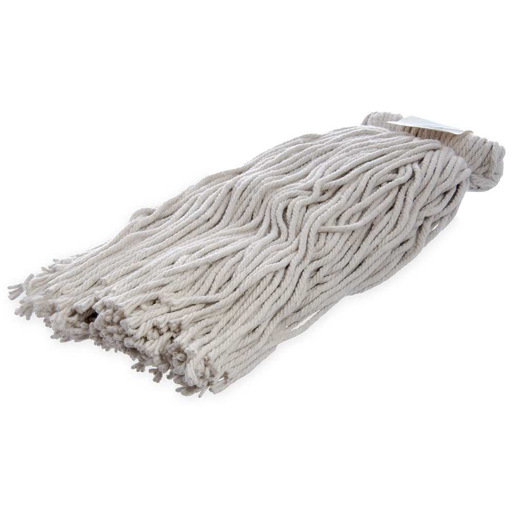 Carlisle 369024C00 Screw Top Mop Head - #24, 4 Ply, Cut End, Cotton Yarn