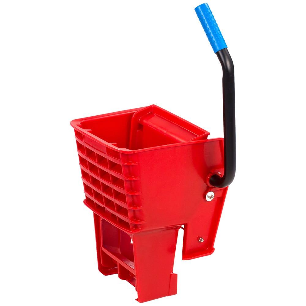 Carlisle 36908W05 Side-Press Mop Wringer - Fits 26/35 qt, Polyethylene, Red
