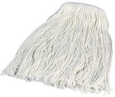 Carlisle 36913200 Wet Mop Head - #32, 8-Ply, Cut End, Rayon Yarn, White