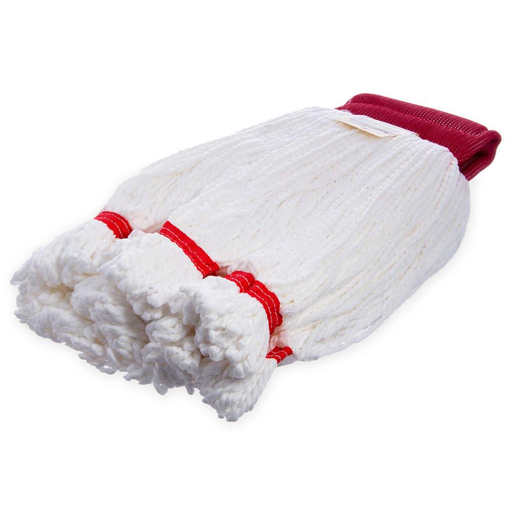 Carlisle 36942002 Wet Mop Head - Looped End, Microfiber Yarn, Red/White