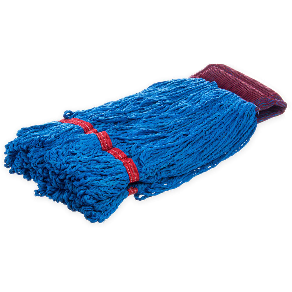 Carlisle 36942014 Wet Mop Head - Looped End, Microfiber Yarn, Blue/White