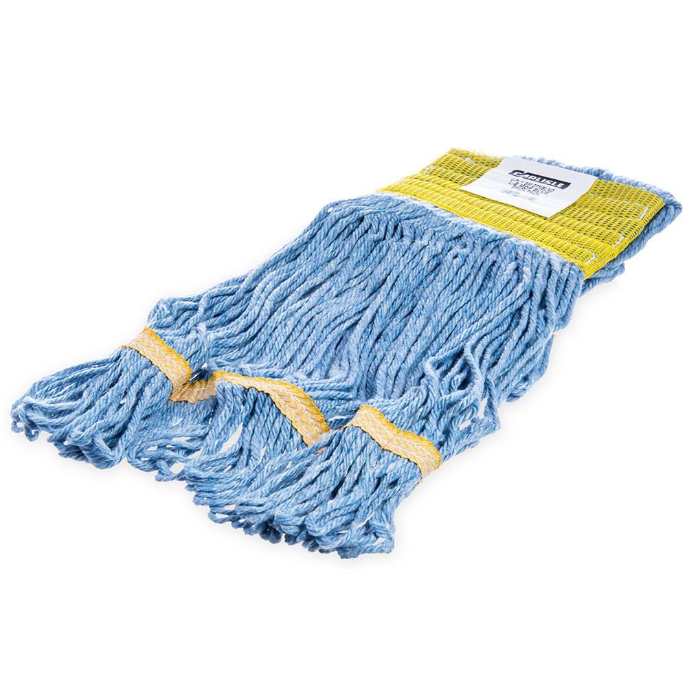 Carlisle 369442B14 Wet Mop Head - 4-Ply, Synthetic/Cotton Yarn, Yellow/Blue