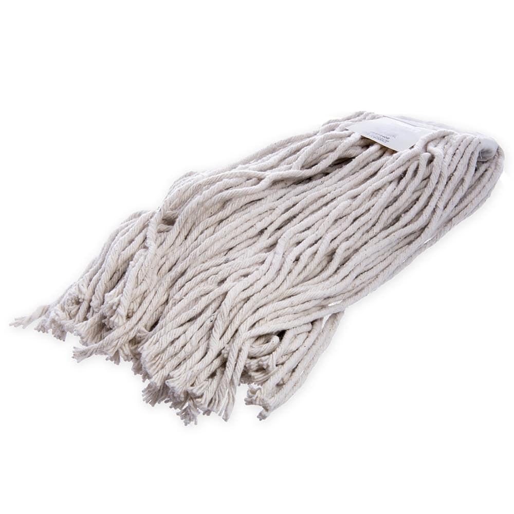 Carlisle 36972400 Wet Mop Head - #24, 8 Ply, Cut-End, Natural Cotton Yarn