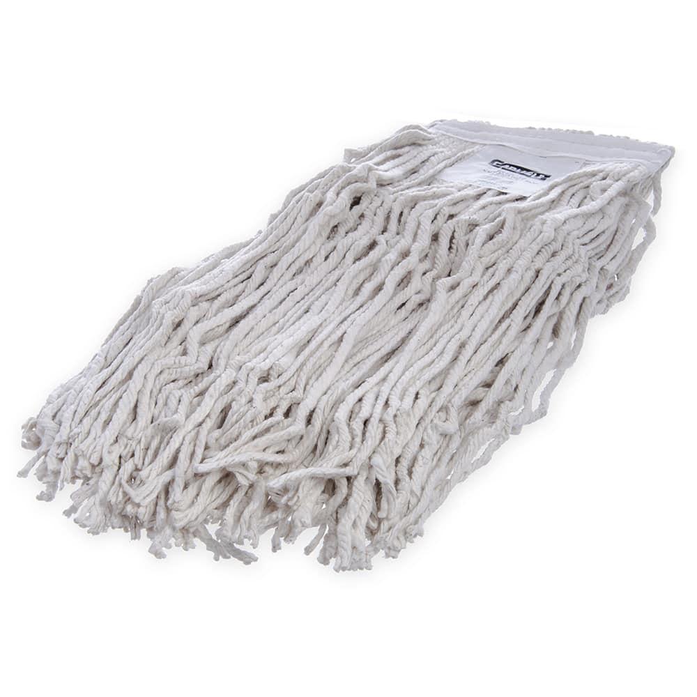 Carlisle 369824B00 Wet Mop Head - #24, 4-Ply, Cut-End, Natural Cotton Yarn