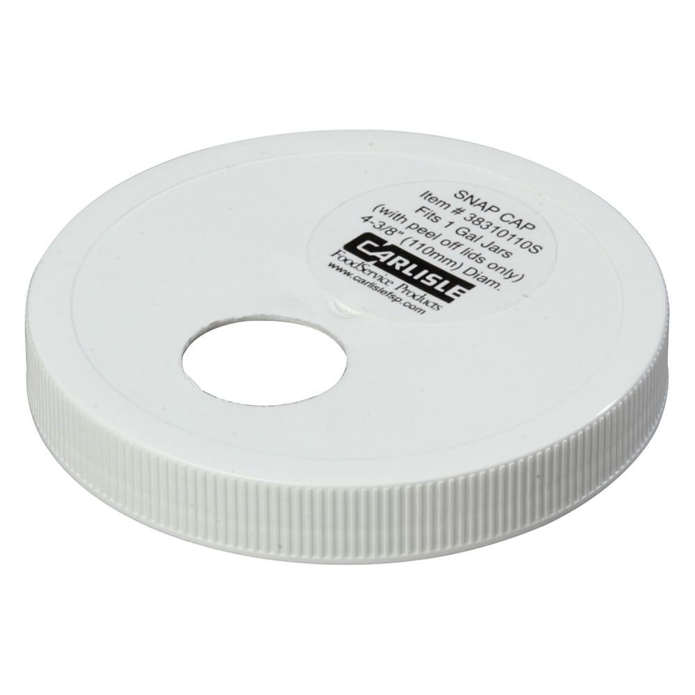 "Carlisle 38310110S 4.33"" Pump Dispenser Cap - Snap On, Plastic, White"