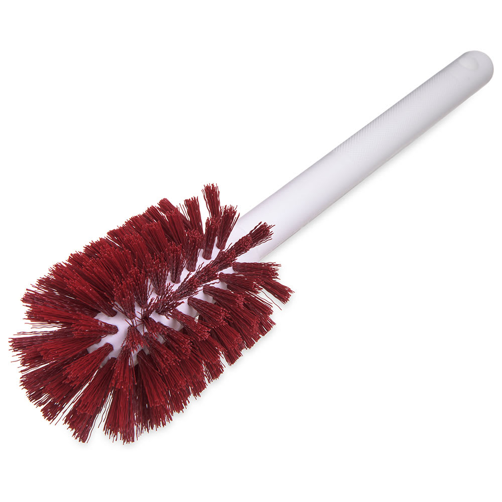"Carlisle 4000005 12"" Bottle Brush - Wire/Poly, White/Red"
