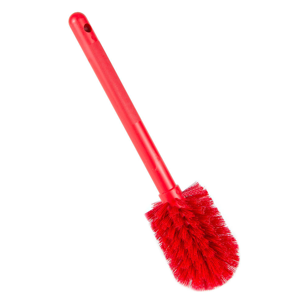 "Carlisle 40000C05 12"" Bottle Brush w/ Soft Polyester Bristles, Red"