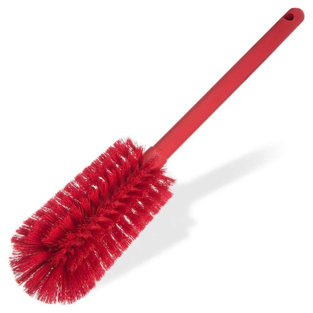 "Carlisle 40001C05 16"" Bottle Brush w/ Soft Polyester Bristles, Red"