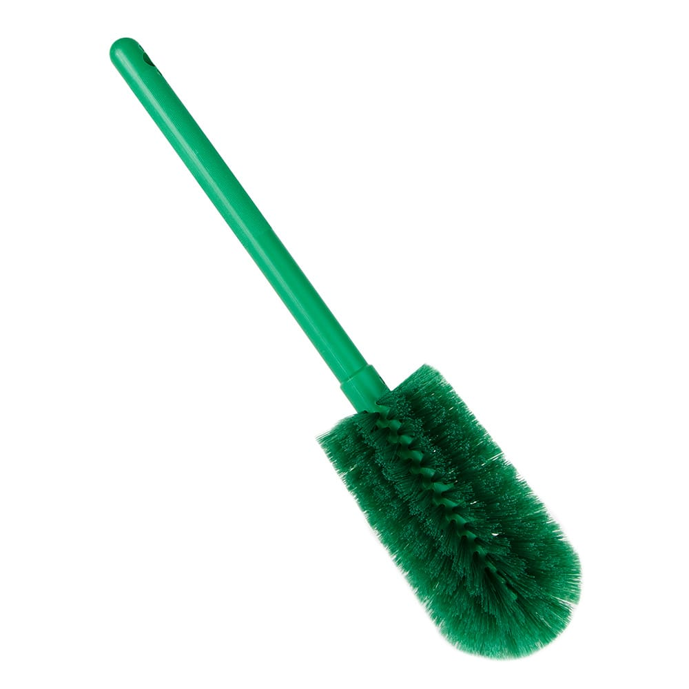"Carlisle 40001C09 16"" Bottle Brush w/ Soft Polyester Bristles, Green"