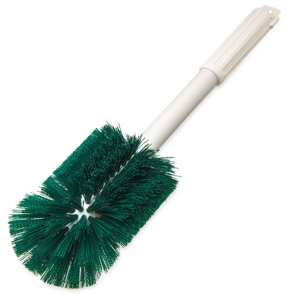 "Carlisle 4000209 16"" Oval Multi Purpose Valve/Fitting Brush - Poly/Plastic, Green"