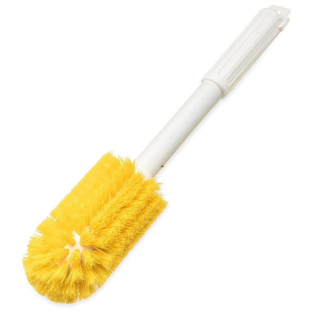 "Carlisle 4000404 16"" Round Multi Purpose Valve/Fitting Brush - Poly/Plastic, Yellow"
