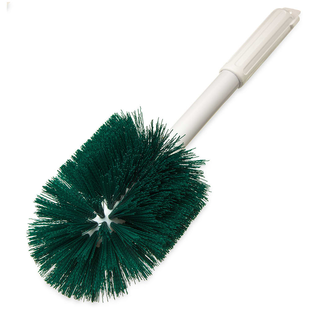 "Carlisle 4001009 30"" Round Multi Purpose Valve/Fitting Brush - Poly, Green"