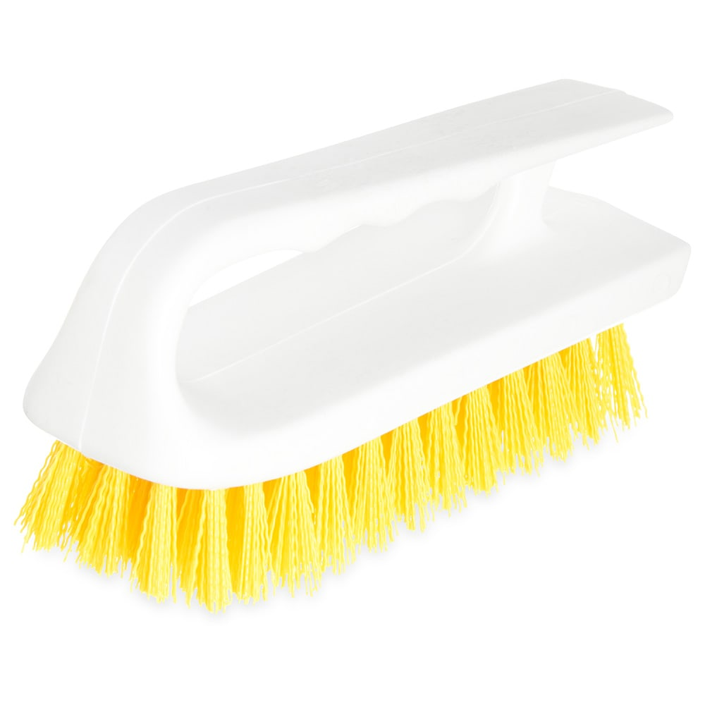 "Carlisle 4002404 6"" Bake Pan Lip Brush - Poly/Plastic, Yellow"