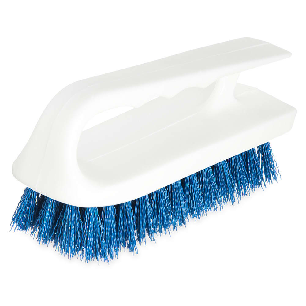 "Carlisle 4002414 6"" Bake Pan Lip Brush - Poly/Plastic, Blue"