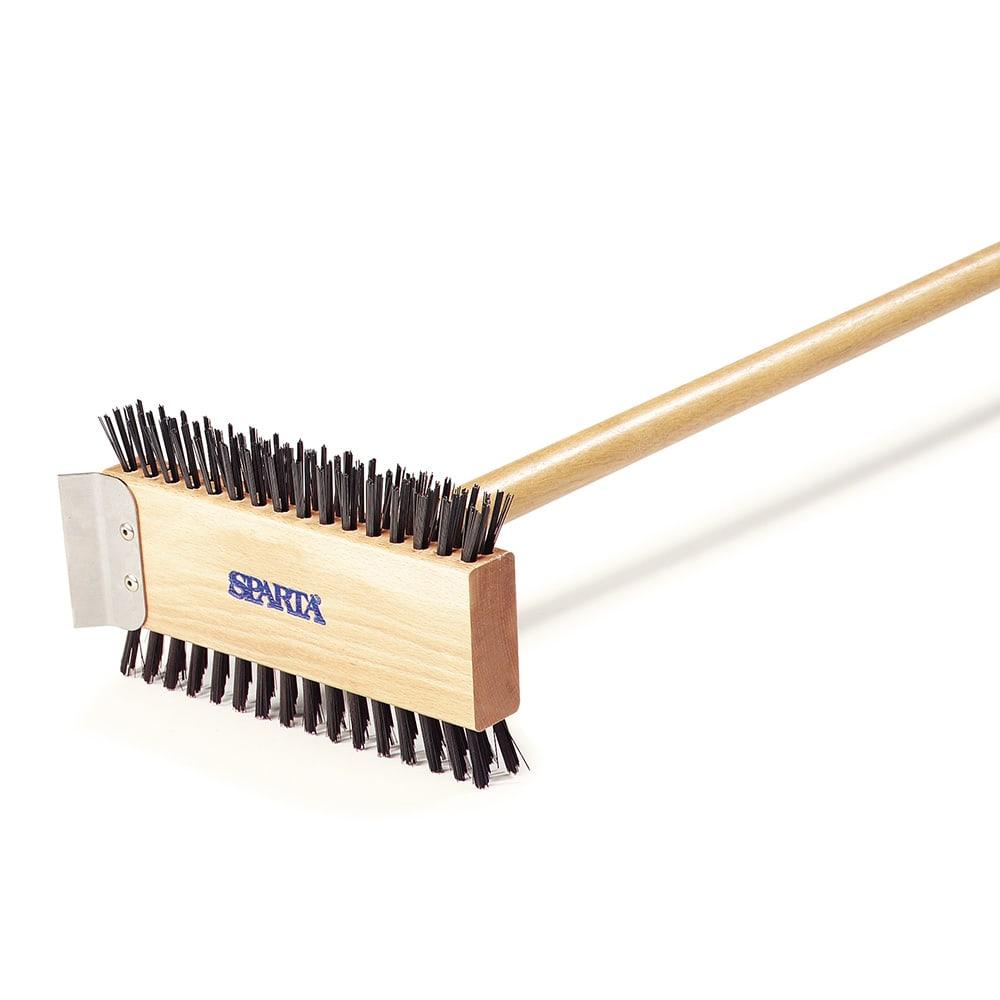 """Carlisle 4002600 30 1/2"""" Broiler Master Brush - Carbon Steel/Wood"""