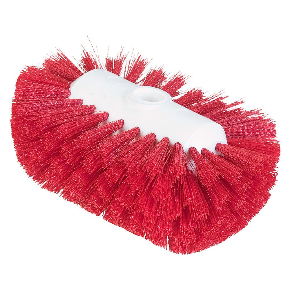 "Carlisle 4004105 7-1/2"" Tank/Kettle Brush Head - Nylon/Plastic, Red"