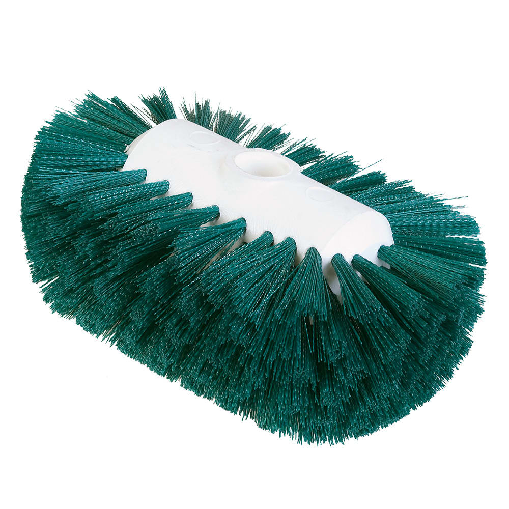 "Carlisle 4004109 7-1/2"" Tank/Kettle Brush Head - Nylon/Plastic, Green"