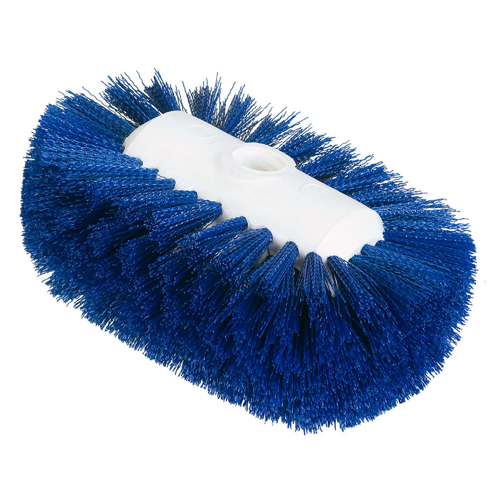 "Carlisle 4004114 7 1/2"" Tank/Kettle Brush Head - Nylon/Plastic, Blue"