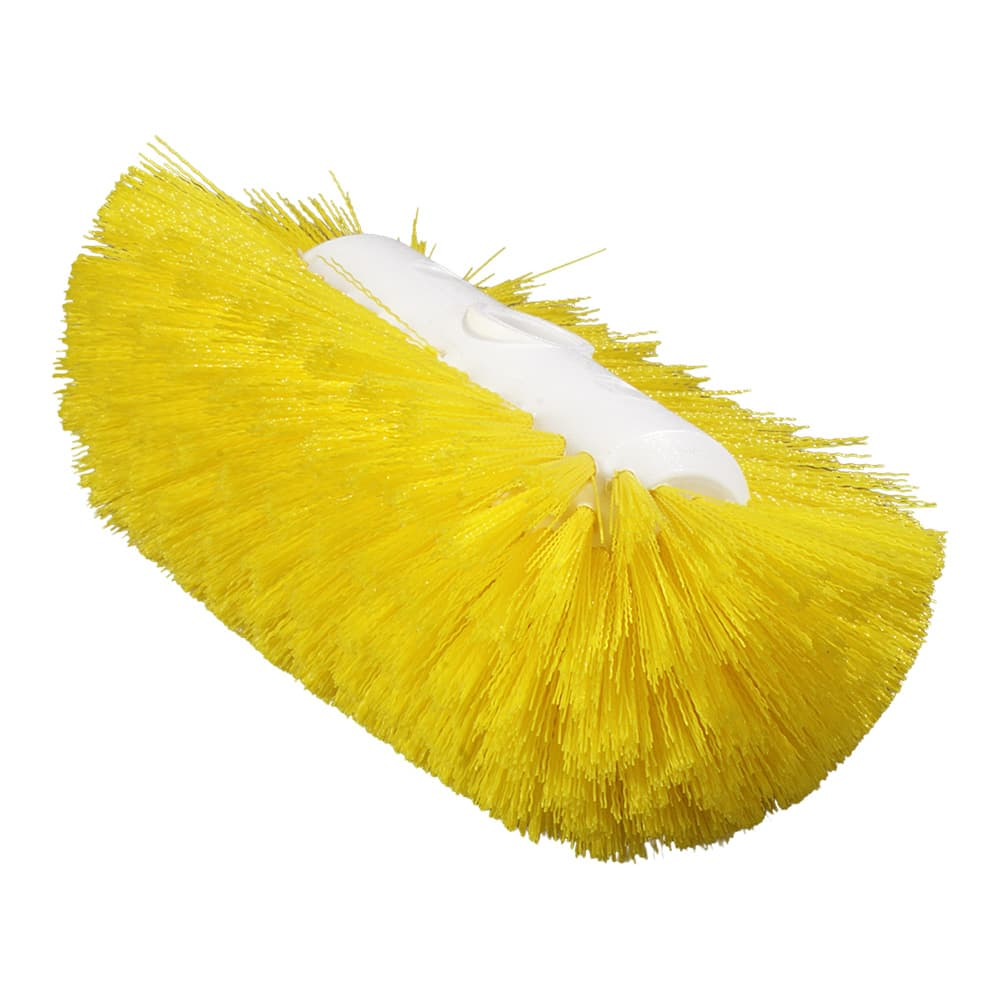 "Carlisle 4004304 9 1/2"" Tank/Kettle Brush Head - Nylon/Plastic, Yellow"