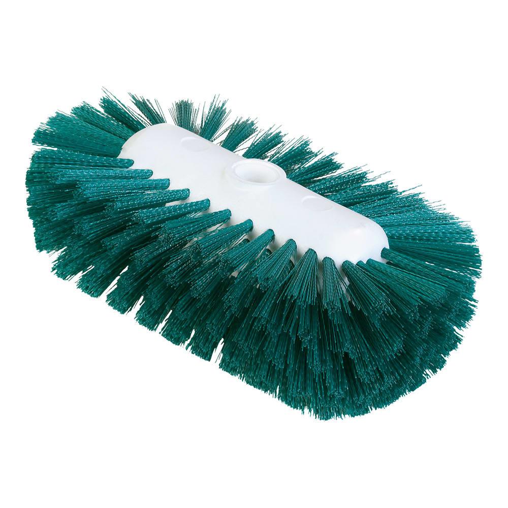 "Carlisle 4004309 9-1/2"" Tank/Kettle Brush Head - Nylon/Plastic, Green"