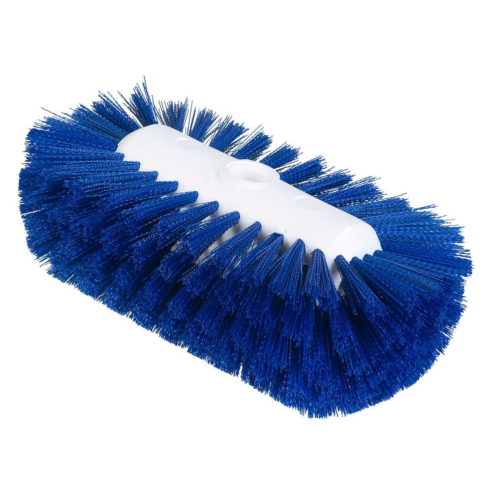 """Carlisle 4004314 9-1/2"""" Tank/Kettle Brush Head - Nylon/Plastic, Blue"""