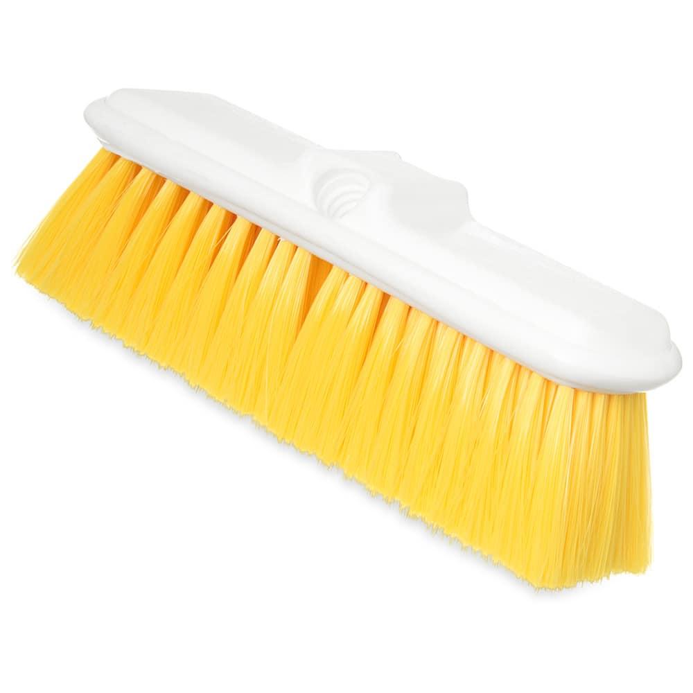 """Carlisle 4005004 9 1/2"""" Wall Brush - Nylex/Plastic, Yellow"""