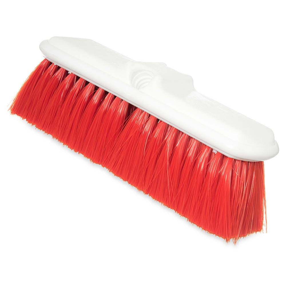 "Carlisle 4005005 9-1/2"" Wall Brush - Nylex/Plastic, Red"