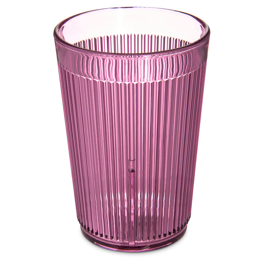 Carlisle 400855 8 oz Ribbed Tumbler - Plastic, Rose