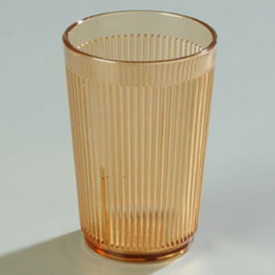 Carlisle 401013 9-1/2-oz Stack-All Tumbler - Amber