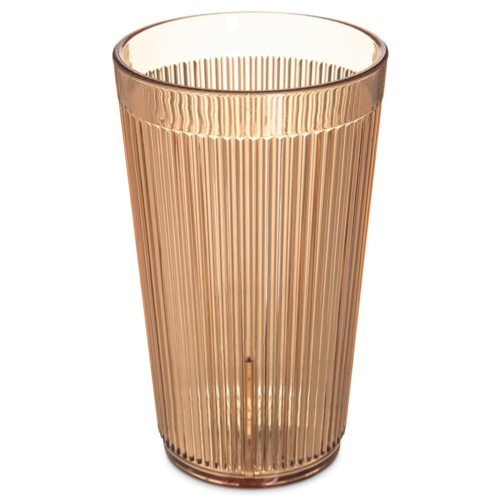 Carlisle 401213 12-oz Stack-All Tumbler - Amber