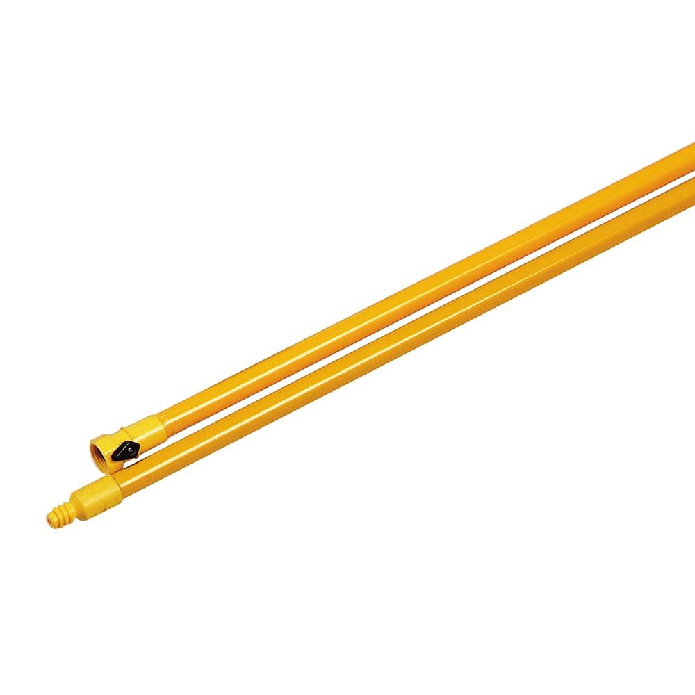 "Carlisle 4024104 60"" Handle - Threaded, Flow-Thru Fiberglass, Yellow"