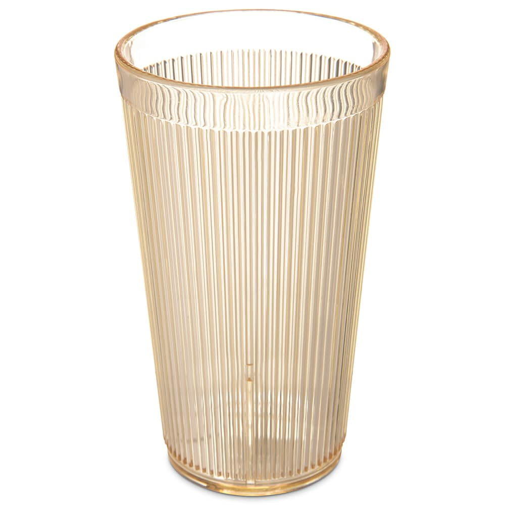 Carlisle 403422 16 oz RimGlow Tumbler - Honey Yellow