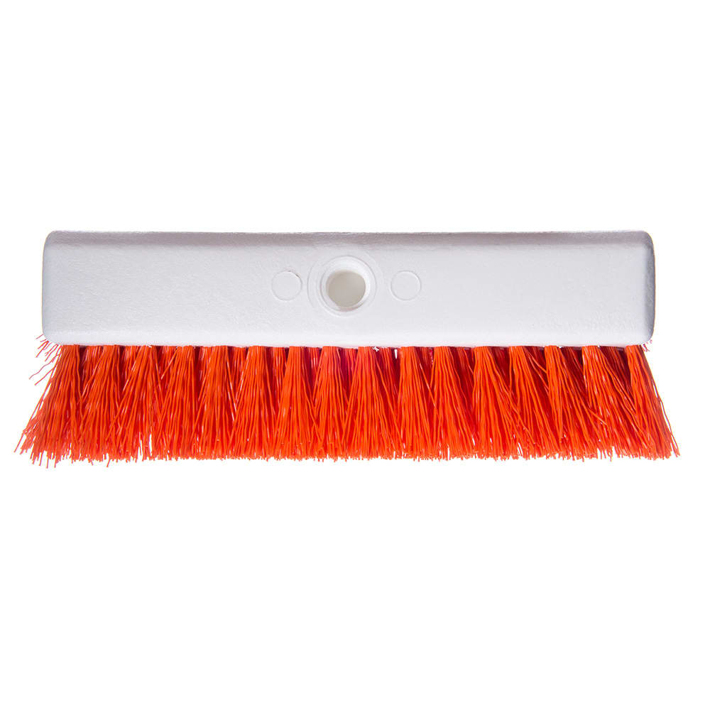 "Carlisle 4042324 10"" Hi-Lo Scrub Brush - Orange"