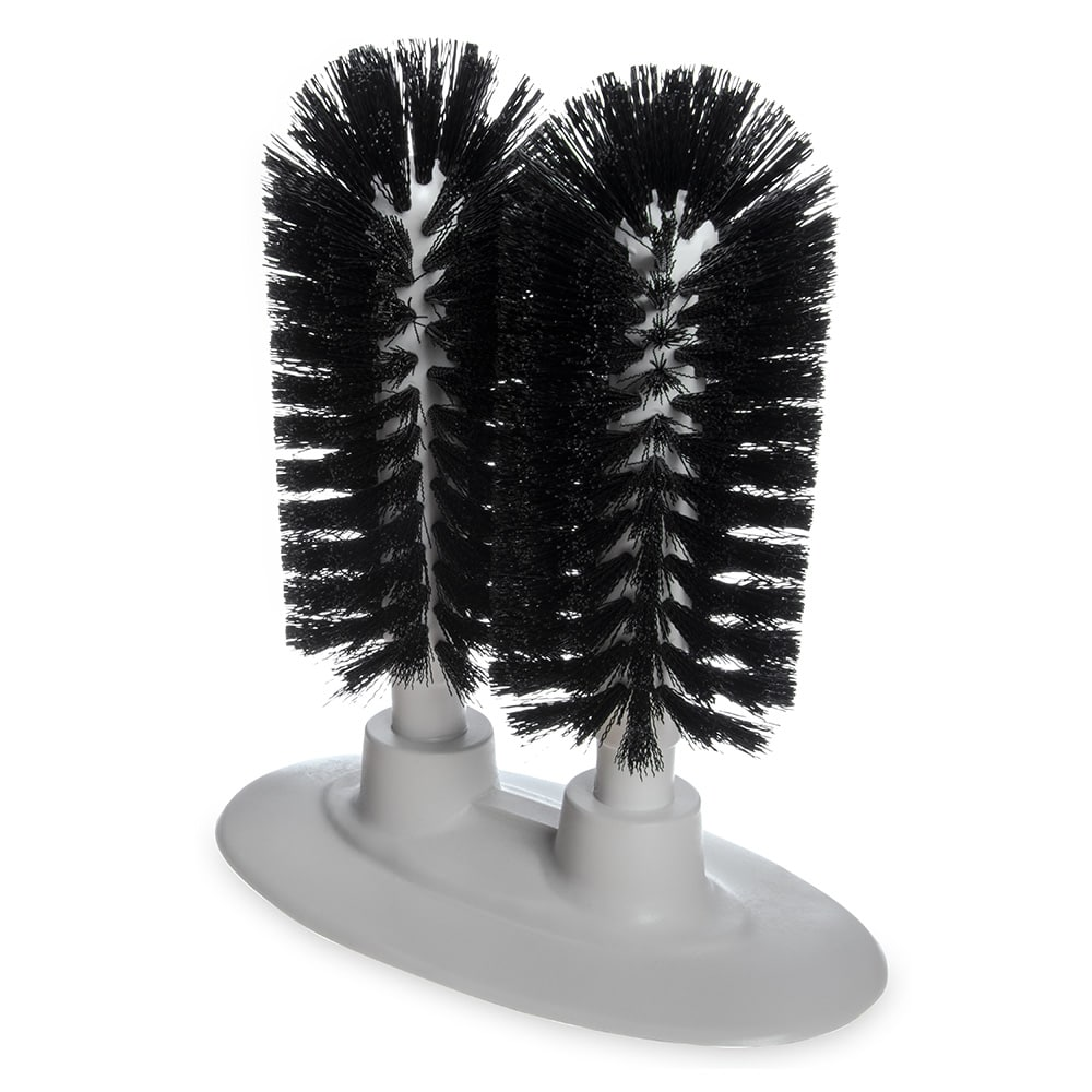 Carlisle 4046003 Sparta Twin Glass Washer Brush, Polyester Bristles
