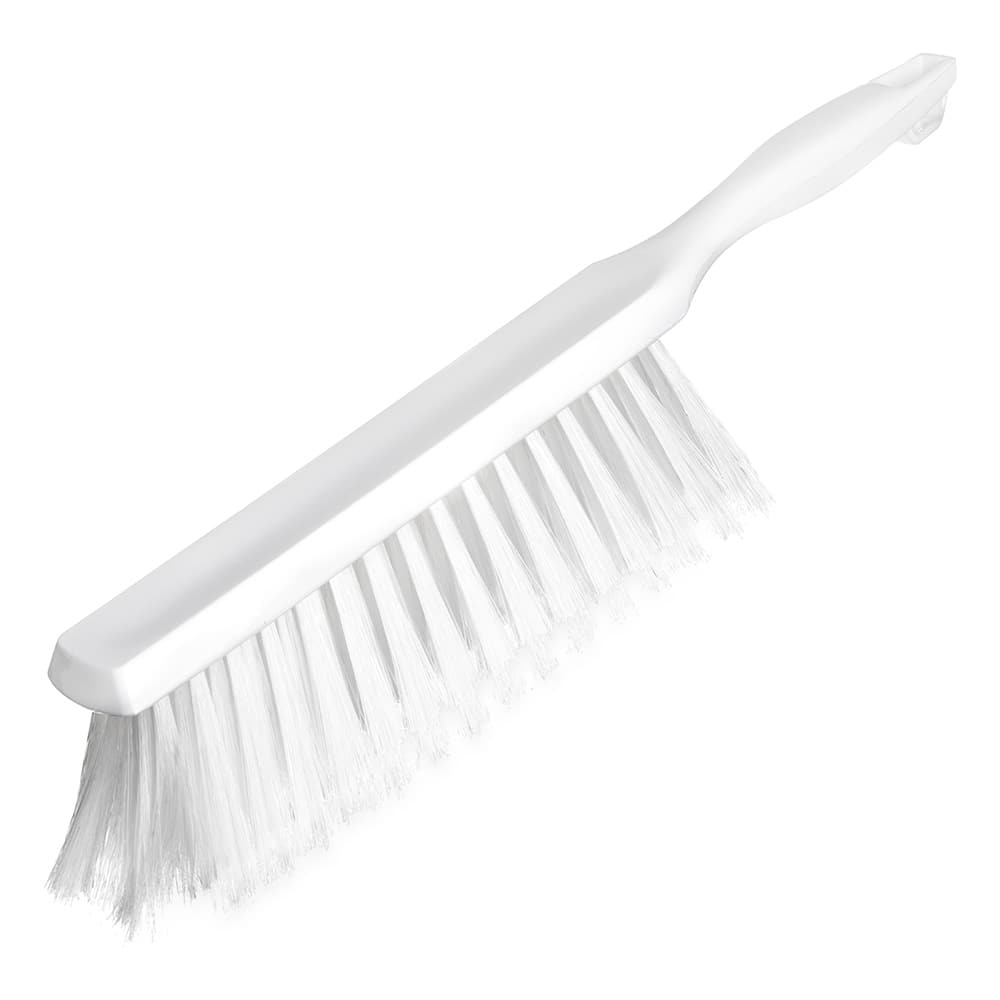 "Carlisle 4048002 13"" Counter/Bench Brush - Poly/Plastic, White"