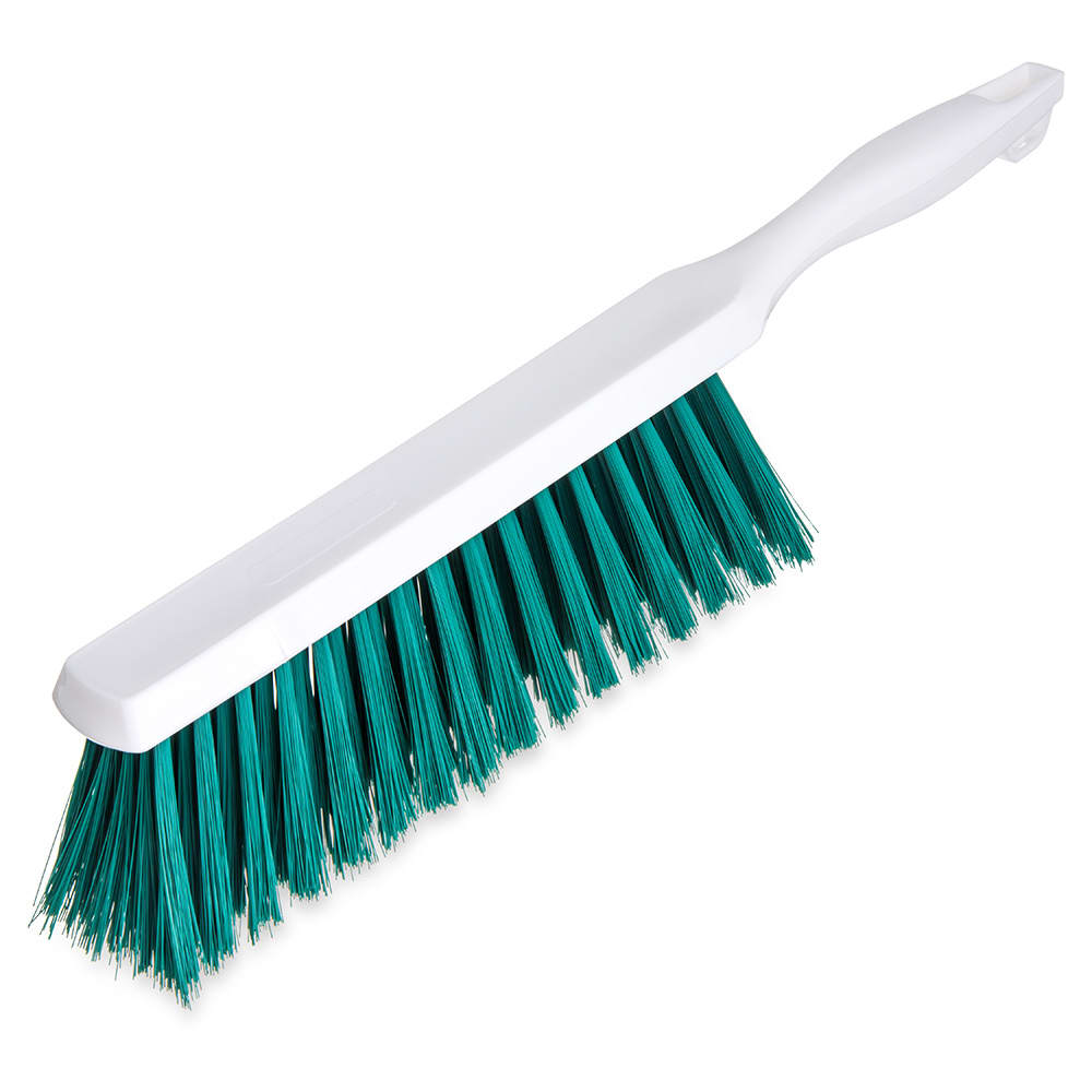 "Carlisle 4048009 13"" Counter/Bench Brush - Poly/Plastic, Green"