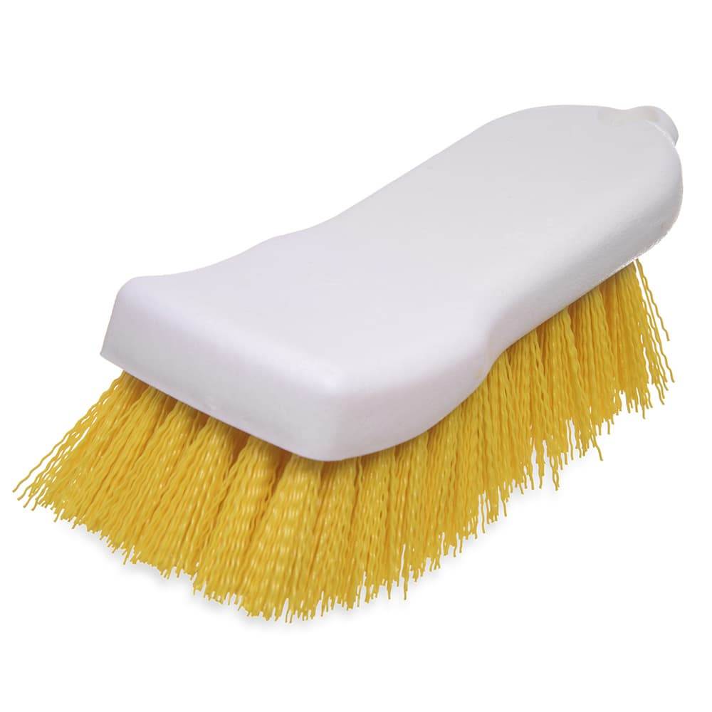 "Carlisle 4052104 Cutting Board Brush - 6x2-1/2"" White/Yellow"