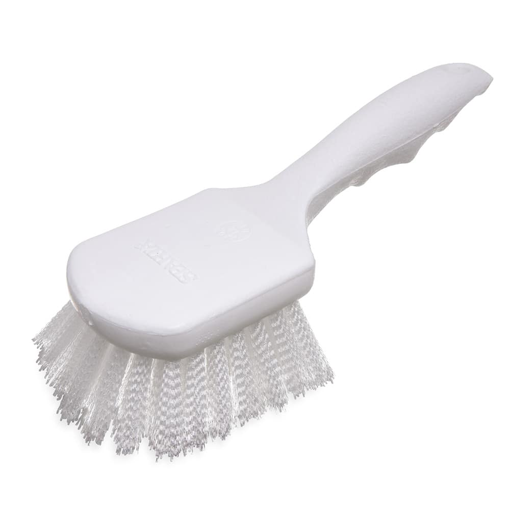 "Carlisle 4054200 Sparta Hercules Kitchen Brush, 8""Handle, Stiff Nylon Bristles"