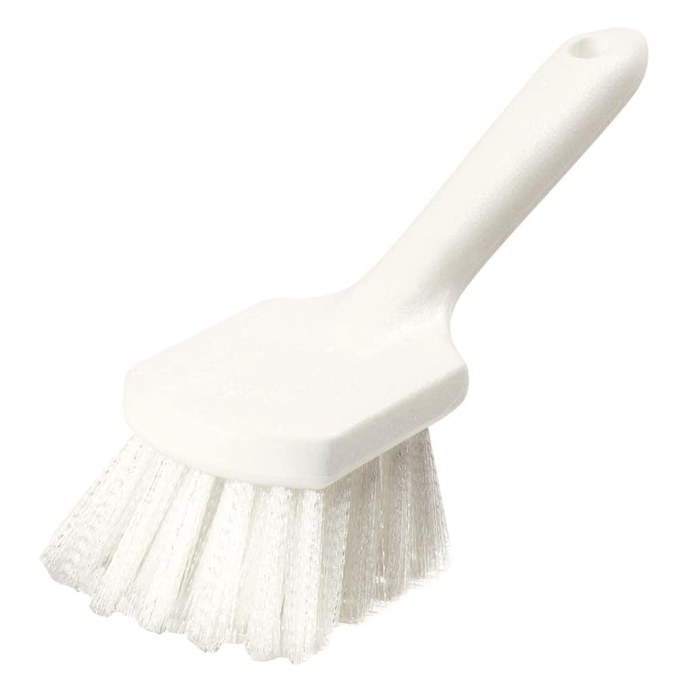"""Carlisle 4054500 8"""" Utility Kitchen Brush - Angled, Poly, White"""
