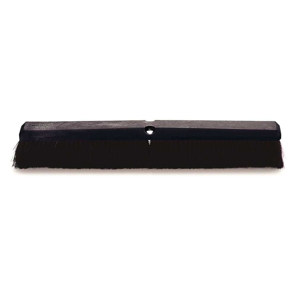 "Carlisle 4056500 24"" Floor Sweep Head - Foam Block, Black Tampico Bristles"